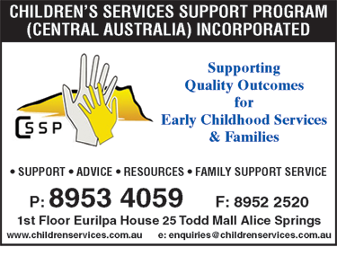 Children?s Services Support Program (Central Australia) Incorporated