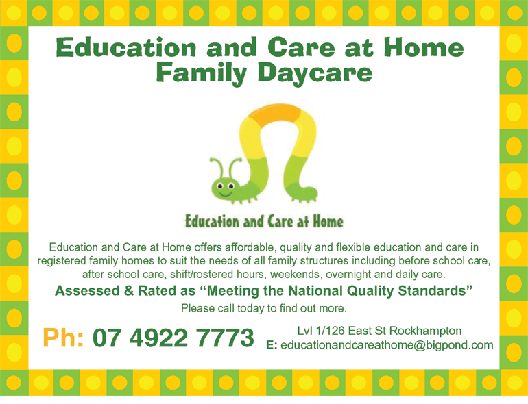 Education and Care at Home Family Daycare